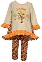 Bonnie Jean Little Girls Thanksgiving Autumn Top and Pants Set, Sz