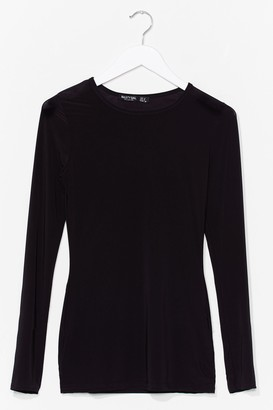 Nasty Gal Womens Soft Touch Long Sleeve Gym Top - Black - 6