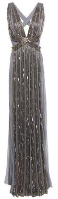 Alberta Ferretti Cutout Sequin-embellished Silk-chiffon Gown