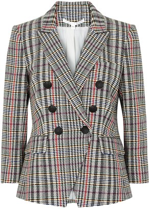 Veronica Beard Empire houndstooth double-breasted blazer