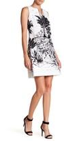Gabby Skye Scenery Print Front Tie Dress