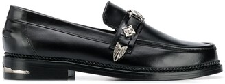 Toga Virilis Western Buckle Strap Loafers