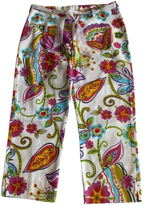 Andres Sarda Multicolour Cotton Trousers for Women