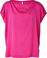 Vince Hot Pink Short Sleeve Silk Top