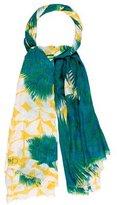Diane von Furstenberg Linen-Blend Printed Scarf