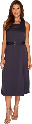 Ellen Tracy Women's D-Ring Column Dress