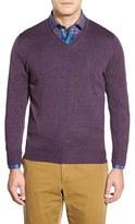 Robert Talbott Men's 'Pasadera' Wool & Silk Blend V-Neck Sweater