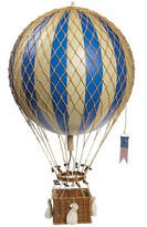Royal Aero Balloon Ornament in Blue