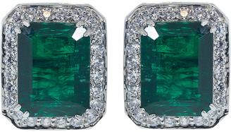 FANTASIA Antique Asscher Cut Emerald Earrings