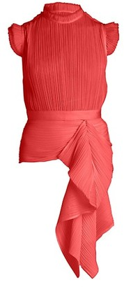 UNTTLD Nova Pleated Asymmetrical Peplum Top