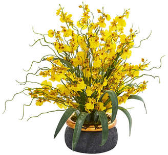 """Nearly Natural 19"""" Dancing Lady Artificial Arrangement in Vase"""