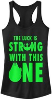 Fifth Sun Women's Tank Tops BLACK - Star Wars Black 'Luck Is Strong' Racerback Tank - Women & Juniors