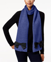 Kate Spade Grosgrain Bow Knit Scarf