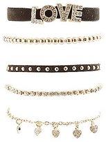 Charlotte Russe Embellished Love Layering Bracelets - 5 Pack