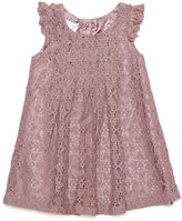Kardashian Kids Pleated Crochet Lace Dress