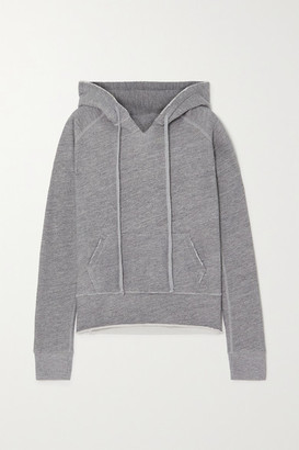 Nili Lotan Rayne Melange Cotton-blend Jersey Hoodie - Gray