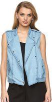 Juicy Couture Women's Asymmetrical Faux-Denim Vest