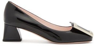 Roger Vivier Tres Vivier Buckled Patent-leather Pumps - Black