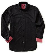 Visconti Big & Tall Dot Jacquard Long-Sleeve Woven Shirt