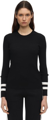 Moncler Viscose Blend Knit Sweater