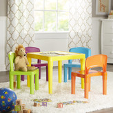 Nickelodeon Tot Tutors Kids 5 Piece Plastic Table and Chair Set