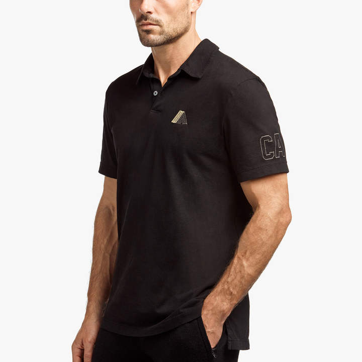 James Perse SUEDED JERSEY MOUNTAIN GRAPHIC POLO