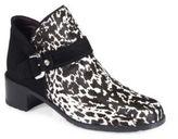 Stuart Weitzman Dude Animal-Print Calf Hair & Suede Ankle Boots
