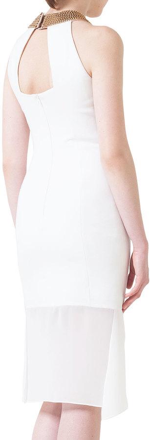 Akris Sleeveless Chain-Neck Dress