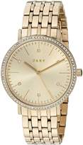 DKNY Women's 'Minetta' Quartz and Stainless-Steel-Plated Casual Watch, Color:-Toned (Model: NY2607)