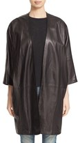Vince Women's Lambskin Leather Open Front Coat