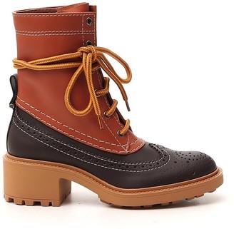 Chloé Franne Lace-Up Ankle Boots