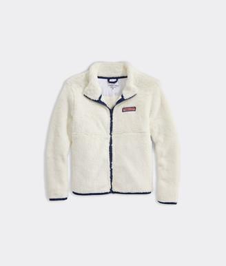 Vineyard Vines Girls' Plush Teddy Full-Zip Jacket