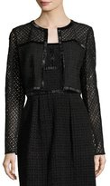 Escada Eve Silk Lace Bolero, Black