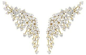 Hueb Luminus 18K Yellow Gold & Diamond Crawler Earrings