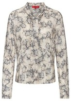 HUGO Slim-fit blouse with bow-tie collar