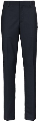 Calvin Klein Navy Wide Leg Side Stripe Trousers