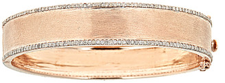 Forever Creations Usa Inc. Forever Creations 18K Rose Gold Over Silver 2.25 Ct. Tw. Diamond Bangle