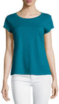 Eileen Fisher Short-Sleeve Organic Cotton Top, Plus Size