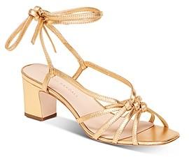 Loeffler Randall Women's Libby Tie-Strap Mid-Heel Sandals