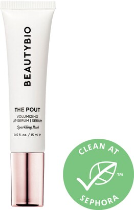 BeautyBio The Pout Sparkling Rose Hyaluronic Acid Collagen Plumping Lip Serum