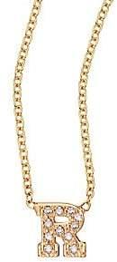 Chicco Zoe Women's Pavé Diamond & 14K Yellow Gold Initial Pendant Necklace