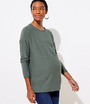 LOFT Maternity Textured Sweater