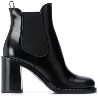 Prada Block Heeled Chelsea Boots