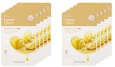 The Face Shop Real Nature Lemon Face Mask - Blackhead Treatment Set (10 PC)