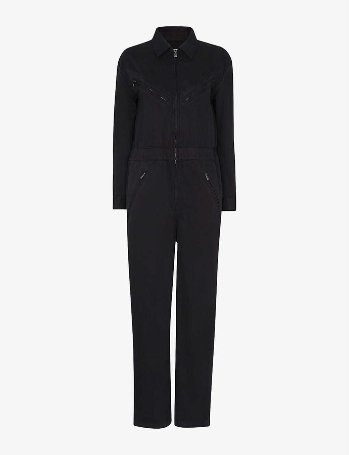 Whistles Ultimate Utility cotton-blend jumpsuit