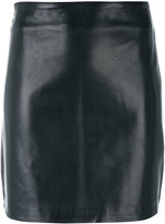 Manokhi fitted leather skirt