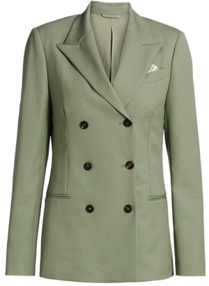 Brunello Cucinelli Double Breasted Virgin Wool Blazer Jacket