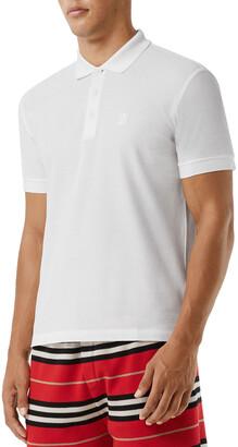 Burberry Men's Eddie Pique Polo Shirt, White