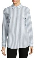 Lafayette 148 New York Brody Striped Cotton & Linen Blouse