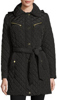 MICHAEL Michael Kors Diamond-Quilted Belted Jacket